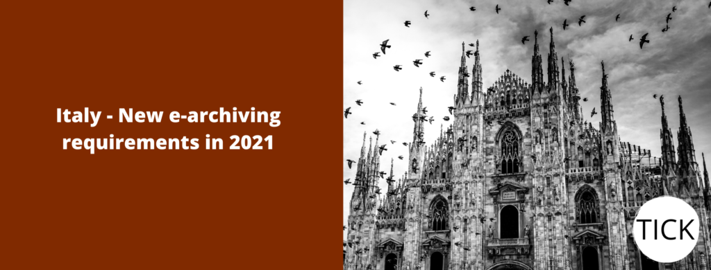 Italy - New e-archiving requirements in 2021