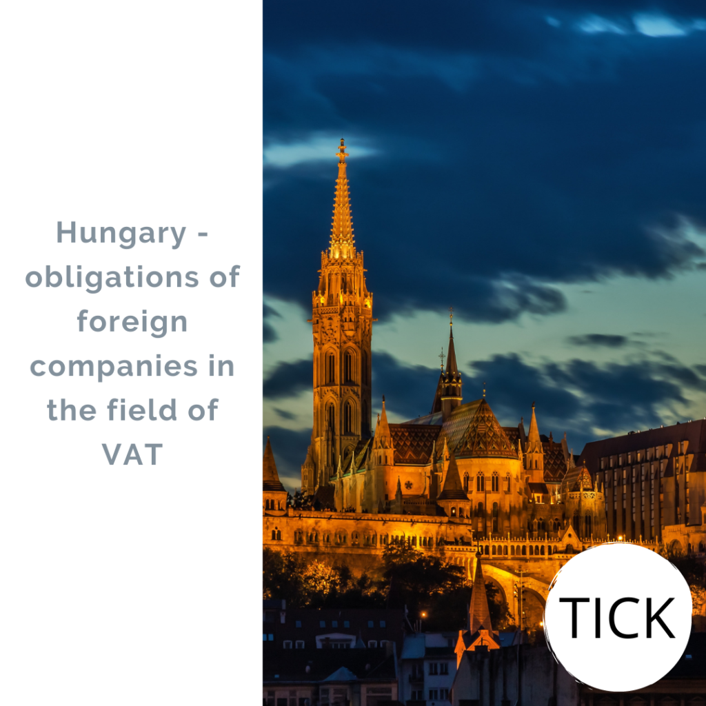 Hungary - obligations of foreign companies in the field of VAT